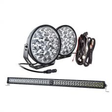 "Kings Domin8r Xtreme 9"" Essential Light Pack + 40"" Laser Light Bar"