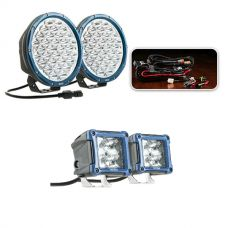 "Essential 9"" Domin8rX Driving Light Pack fitted with OSRAM LEDs + 3"" LED Work Light - Pair"