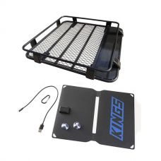 Steel Roof Rack 1/2 Length + Adventure Kings 10W Portable Solar Kit