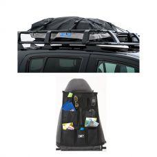 Half-Length Premium Waterproof Rooftop Bag + Car Seat Organisers