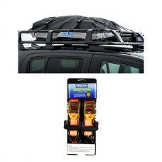 Half-Length Premium Waterproof Rooftop Bag + Hercules Heavy Duty 3m Ratchet Strap (2 pack)