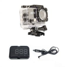 Adventure Kings Action Camera + GPS Heads Up Display (HUD) Unit