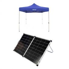 Adventure Kings - Gazebo 3m x 3m + Kings Premium 160w Solar Panel with MPPT Regulator