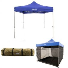 Adventure Kings - Gazebo 3m x 3m + Gazebo Mosquito Net + Roof Top Canvas Bag