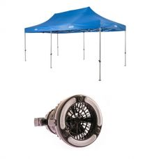 Adventure Kings - Gazebo 6m x 3m + 2in1 LED Light & Fan