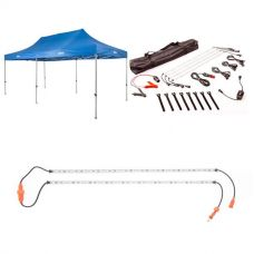 Adventure Kings - Gazebo 6m x 3m + Illuminator 4 Bar Camp Light Kit + Orange LED Camp Light Extension Kit