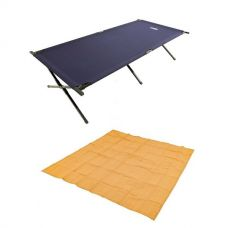 Adventure Kings - Mesh Flooring 3m x 3m + Adventure Kings Camping Stretcher Bed