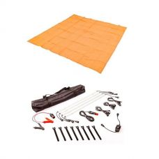 Adventure Kings - Mesh Flooring 3m x 3m + Illuminator 4 Bar Camp Light Kit