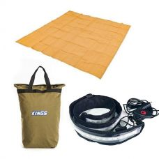 Adventure Kings - Mesh Flooring 3m x 3m + Illuminator MAX LED Strip Light + Doona/Pillow Canvas Bag