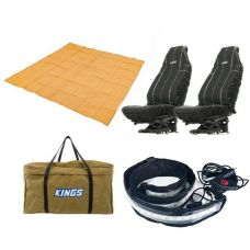 Adventure Kings - Mesh Flooring 3m x 3m + Illuminator MAX LED Strip Light + Heavy Duty Seat Covers + BBQ Canvas Bag