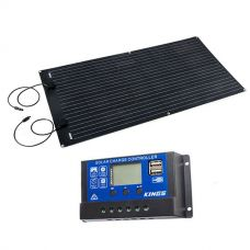 Adventure Kings 160W Semi-Flexible Solar Panel + 15A PWM Solar Controller