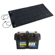 Adventure Kings 160W Semi-Flexible Solar Panel + Battery Box