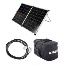Kings Premium 160w Solar Panel with MPPT Regulator + 10m Lead For Solar Panel Extension + 40L Duffle Bag