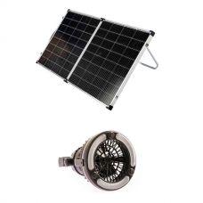 Kings Premium 160w Solar Panel with MPPT Regulator + 2in1 LED Light & Fan