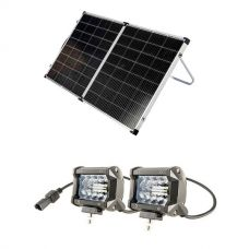"Kings Premium 160w Solar Panel with MPPT Regulator + 4"" LED Light Bar (Pair)"