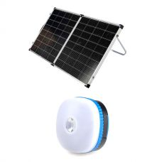Kings Premium 160w Solar Panel with MPPT Regulator + Mini Lantern