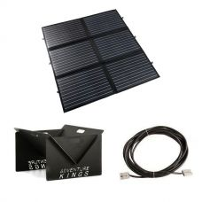 Adventure Kings 200W Portable Solar Blanket + 10m Lead For Solar Panel Extension + Portable Steel Fire Pit