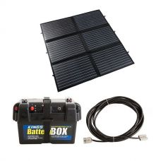 Adventure Kings 200W Portable Solar Blanket + Adventure Kings Battery Box + 10m Lead For Solar Panel Extension
