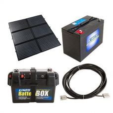 Adventure Kings 200W Portable Solar Blanket + Adventure Kings Battery Box + AGM Deep Cycle Battery 115AH + 10m Lead For Solar Panel Extension