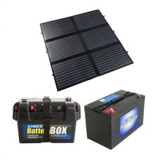 Adventure Kings 200W Portable Solar Blanket + Adventure Kings Battery Box + AGM Deep Cycle Battery 115AH