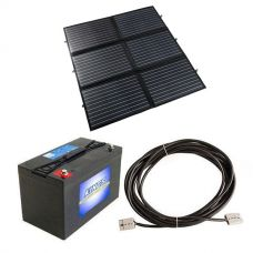 Adventure Kings 200W Portable Solar Blanket + AGM Deep Cycle Battery 115AH + 10m Lead For Solar Panel Extension