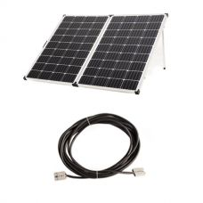 Adventure Kings 250w Solar Panel + 10m Lead with Solar Panel Extension