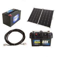 Adventure Kings 250w Solar Panel + AGM Deep Cycle Battery 115AH + Battery Box + 10m Lead For Solar Panel Extension