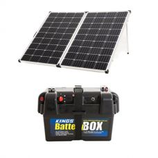 Adventure Kings 250w Solar Panel + Battery Box