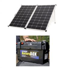 Adventure Kings 250w Solar Panel + Maxi Battery Box