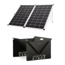 Adventure Kings 250w Solar Panel + Portable Steel Fire Pit