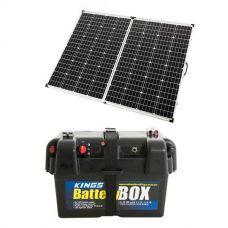 Adventure Kings 250w Solar Panel + Battery Box