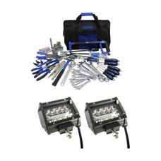 "Adventure Kings 4"" LED Light Bar + Tool Kit - Ultimate Bush Mechanic"