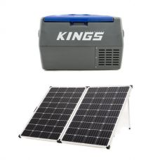 Adventure Kings 45L Camping Fridge + 250w Solar Panel