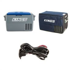 Adventure Kings 45L Camping Fridge + 45L Camping Fridge Cover + 12V Fridge Wiring Kit