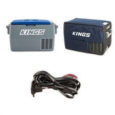 Adventure Kings 45L Camping Fridge + 45L Camping Fridge Cover + 12V Fridge Wiring Kit