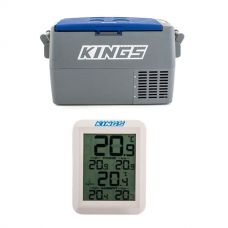 Adventure Kings 45L Camping Fridge + Adventure Kings Wireless Fridge Thermometer