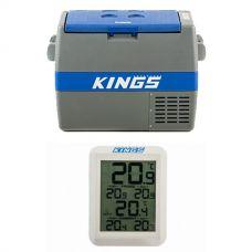 Adventure Kings 60L Camping Fridge/Freezer + Adventure Kings Wireless Fridge Thermometer