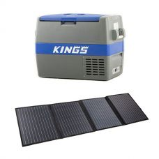 Adventure Kings 60L Camping Fridge/Freezer + 120W Portable Solar Blanket with PWM Regulator