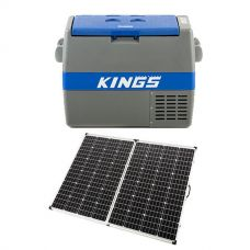 Adventure Kings 60L Camping Fridge/Freezer + 250w Solar Panel