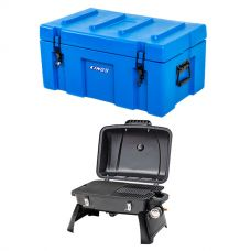 Adventure Kings 78L Tough Tool Box + Gasmate Voyager Portable BBQ