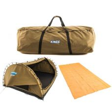 Adventure Kings 'Big Daddy' Deluxe Double Swag + Swag Canvas Bag + Mesh Flooring 6m x 3m