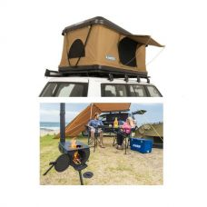 Adventure Kings 'Kwiky' Pop Up Roof Top Tent + Adventure Kings Camp Oven/Stove