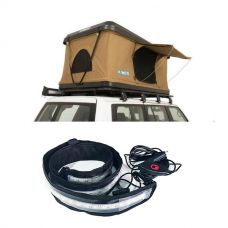 Adventure Kings 'Kwiky' Pop Up Roof Top Tent + Illuminator MAX LED Strip Light
