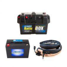 Adventure Kings AGM Deep Cycle Battery 98AH + Battery Box + Adventure Kings LED Strip Light