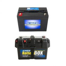 Adventure Kings AGM Deep Cycle Battery 98AH + Battery Box