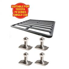 Adventure Kings Aluminium Platform Roof Rack Suitable for Toyota Landcruiser 79 Series Single-Cab 1999+ + Kings 28mm T Bolt (4 Pack)