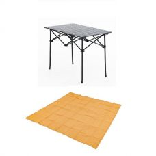 Adventure Kings Aluminium Roll Up Camping Table + Mesh Flooring 3m x 3m