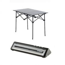 Adventure Kings Aluminium Roll-Up Camping Table + Vacuum Sealer