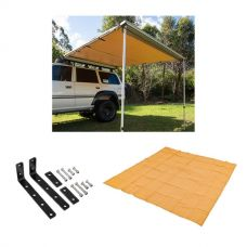 Adventure Kings Awning 2.5 x 2.5m + Awning Mounting Brackets (Pair) + Mesh Flooring 3x3m