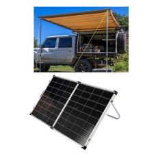 Adventure Kings Awning 2x3m + Kings Premium 160w Solar Panel with MPPT Regulator